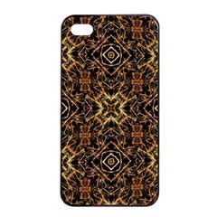 Tribal Geometric Print Apple Iphone 4/4s Seamless Case (black) by dflcprints