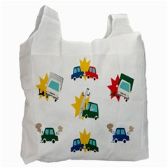 Accident Crash Car Cat Animals Recycle Bag (One Side) by Alisyart