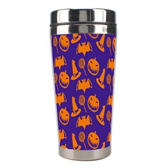 Witch Hat Pumpkin Candy Helloween Purple Orange Stainless Steel Travel Tumblers by Alisyart