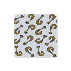 African Fabric Hair Wave Chevron Square Magnet by Alisyart
