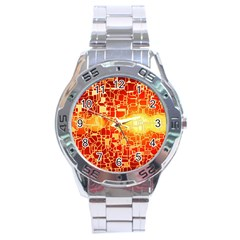 Board Conductors Circuit Stainless Steel Analogue Watch by Amaryn4rt