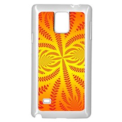 Background Brush Particles Wave Samsung Galaxy Note 4 Case (white) by Amaryn4rt