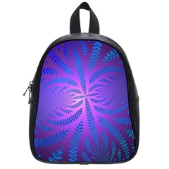 Background Brush Particles Wave School Bags (small)  by Amaryn4rt