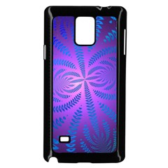 Background Brush Particles Wave Samsung Galaxy Note 4 Case (black) by Amaryn4rt
