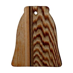 Wood Grain Texture Brown Bell Ornament (two Sides) by Amaryn4rt