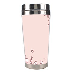 Bird City Sing Pink Notes Music Stainless Steel Travel Tumblers by Alisyart