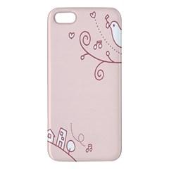 Bird City Sing Pink Notes Music Iphone 5s/ Se Premium Hardshell Case by Alisyart