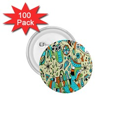 Animals Caterpillar Worm Owl Snake Leaf Flower Floral 1 75  Buttons (100 Pack)  by Alisyart