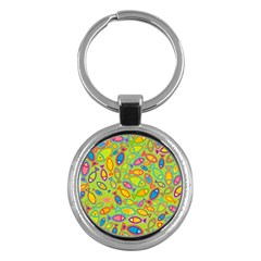 Animals Fish Green Pink Blue Green Yellow Water River Sea Key Chains (round)  by Alisyart