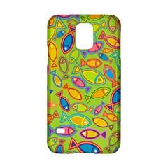 Animals Fish Green Pink Blue Green Yellow Water River Sea Samsung Galaxy S5 Hardshell Case  by Alisyart