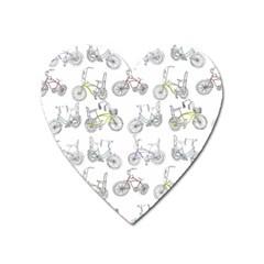 Bicycle Bike Sport Heart Magnet by Alisyart