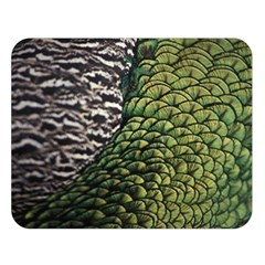 Bird Feathers Green Brown Double Sided Flano Blanket (large)  by Alisyart