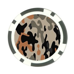Camouflage Army Disguise Grey Orange Black Poker Chip Card Guard (10 Pack) by Alisyart