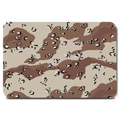 Camouflage Army Disguise Grey Brown Large Doormat  by Alisyart