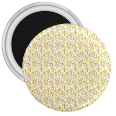 Branch Spring Texture Leaf Fruit Yellow 3  Magnets by Alisyart