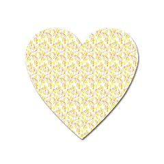 Branch Spring Texture Leaf Fruit Yellow Heart Magnet by Alisyart