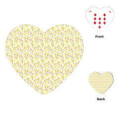 Branch Spring Texture Leaf Fruit Yellow Playing Cards (heart)  by Alisyart