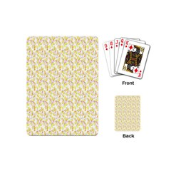 Branch Spring Texture Leaf Fruit Yellow Playing Cards (mini)  by Alisyart