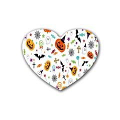 Candy Pumpkins Bat Helloween Star Hat Heart Coaster (4 Pack)  by Alisyart