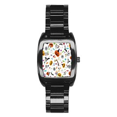 Candy Pumpkins Bat Helloween Star Hat Stainless Steel Barrel Watch by Alisyart