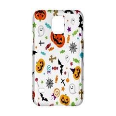 Candy Pumpkins Bat Helloween Star Hat Samsung Galaxy S5 Hardshell Case  by Alisyart