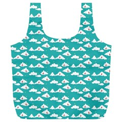 Cloud Blue Sky Sea Beach Bird Full Print Recycle Bags (l)  by Alisyart