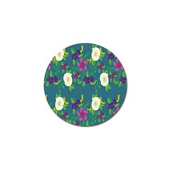 Caterpillar Flower Floral Leaf Rose White Purple Green Yellow Animals Golf Ball Marker (4 Pack) by Alisyart