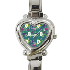 Caterpillar Flower Floral Leaf Rose White Purple Green Yellow Animals Heart Italian Charm Watch by Alisyart