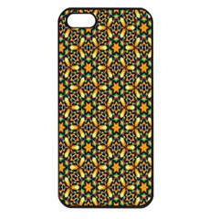 Caleidoskope Star Glass Flower Floral Color Gold Apple Iphone 5 Seamless Case (black) by Alisyart
