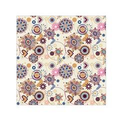 Flower Arrangements Season Floral Purple Love Heart Small Satin Scarf (square) by Alisyart
