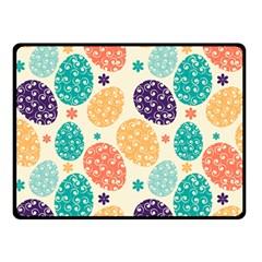 Egg Flower Floral Circle Orange Purple Blue Double Sided Fleece Blanket (small)  by Alisyart
