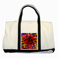 Color Batik Explosion Colorful Two Tone Tote Bag by Amaryn4rt