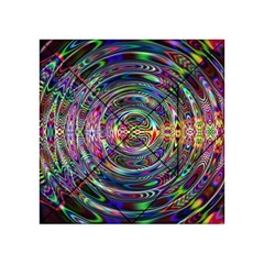 Wave Line Colorful Brush Particles Acrylic Tangram Puzzle (4  X 4 ) by Amaryn4rt