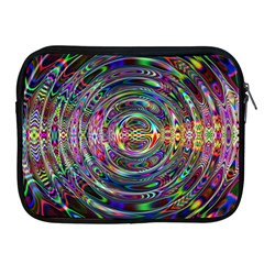 Wave Line Colorful Brush Particles Apple Ipad 2/3/4 Zipper Cases by Amaryn4rt