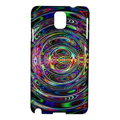 Wave Line Colorful Brush Particles Samsung Galaxy Note 3 N9005 Hardshell Case