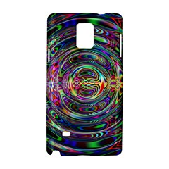 Wave Line Colorful Brush Particles Samsung Galaxy Note 4 Hardshell Case by Amaryn4rt