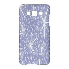 Floral Gray Springtime Flower Samsung Galaxy A5 Hardshell Case  by Alisyart