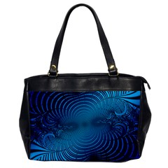 Abstract Fractal Blue Background Office Handbags by Amaryn4rt