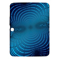Abstract Fractal Blue Background Samsung Galaxy Tab 3 (10.1 ) P5200 Hardshell Case  by Amaryn4rt