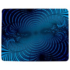 Abstract Fractal Blue Background Jigsaw Puzzle Photo Stand (rectangular) by Amaryn4rt