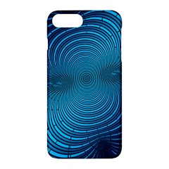 Abstract Fractal Blue Background Apple Iphone 7 Plus Hardshell Case by Amaryn4rt