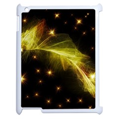 Particles Vibration Line Wave Apple Ipad 2 Case (white) by Amaryn4rt