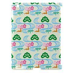 Flower Arrangements Season Sunflower Green Blue Pink Red Waves Apple Ipad 3/4 Hardshell Case (compatible With Smart Cover) by Alisyart