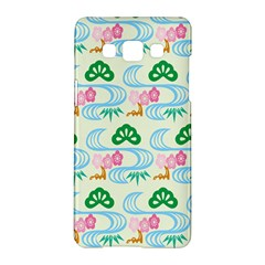 Flower Arrangements Season Sunflower Green Blue Pink Red Waves Samsung Galaxy A5 Hardshell Case  by Alisyart