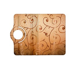 Texture Material Textile Gold Kindle Fire Hd (2013) Flip 360 Case by Amaryn4rt
