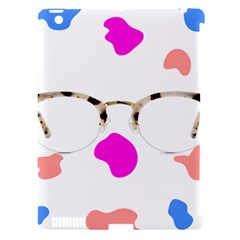 Glasses Blue Pink Brown Apple Ipad 3/4 Hardshell Case (compatible With Smart Cover) by Alisyart