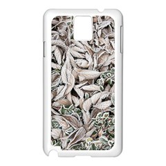 Ice Leaves Frozen Nature Samsung Galaxy Note 3 N9005 Case (white) by Amaryn4rt
