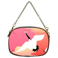 Goose Swan Pink Orange White Animals Fly Chain Purses (two Sides)  by Alisyart