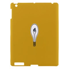 Idea Lamp White Orange Apple Ipad 3/4 Hardshell Case by Alisyart