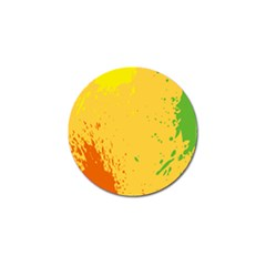 Paint Stains Spot Yellow Orange Green Golf Ball Marker by Alisyart